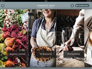 Portada de Evernote Food con las cuatro secciones. Foto: eaTropía