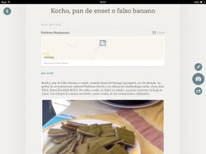 Tomando notas sobre el kocho en el restaurante cultural Finfinne, Addis Ababa, Evernote Food. Foto: eaTropía