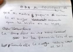 Oda al cuscús de mi alumno argelino, A1
